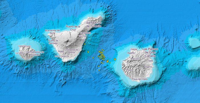 Los movimientos sísmicos entre Tenerife y Gran Canaria ya suman 44 en solo 24 horas