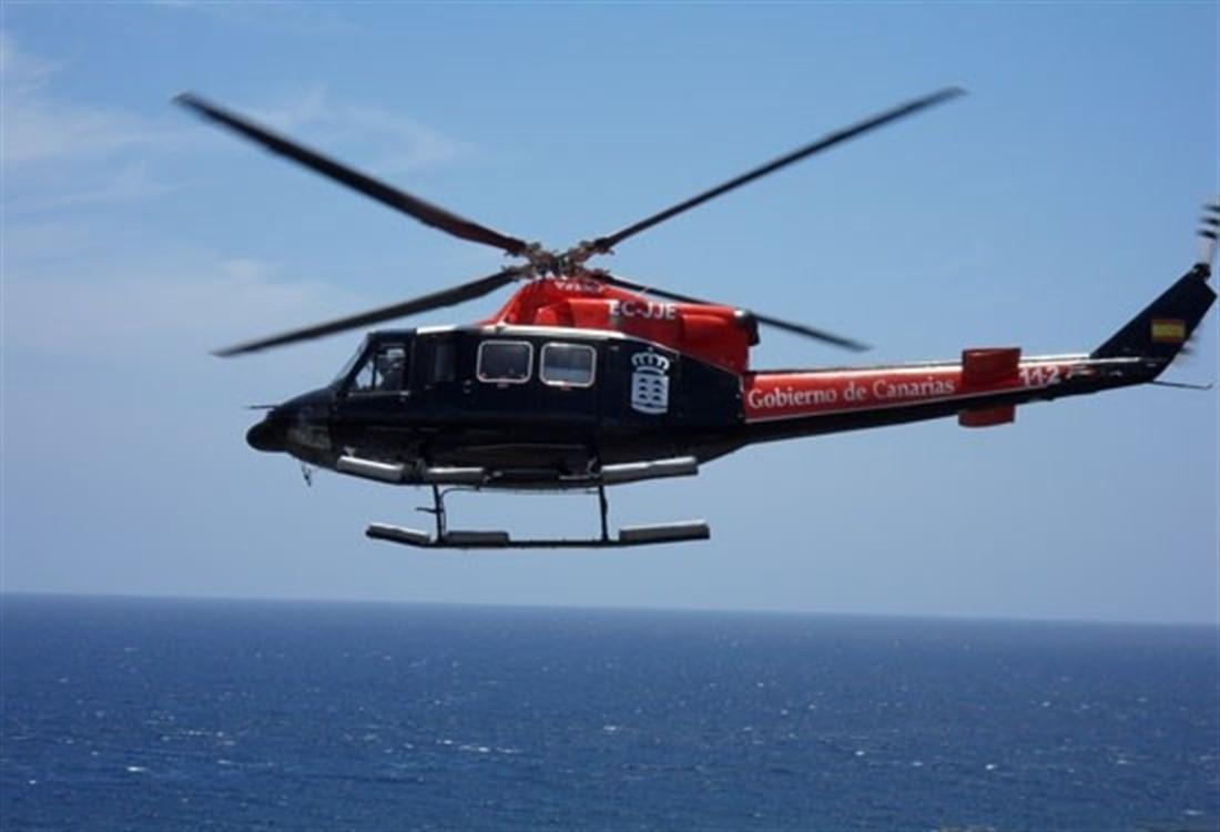 Helicóptero del GES. / EP