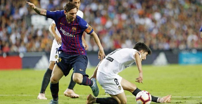 El Barça cede el liderato en favor del Sevilla FC tras empatar en Mestalla (1-1)