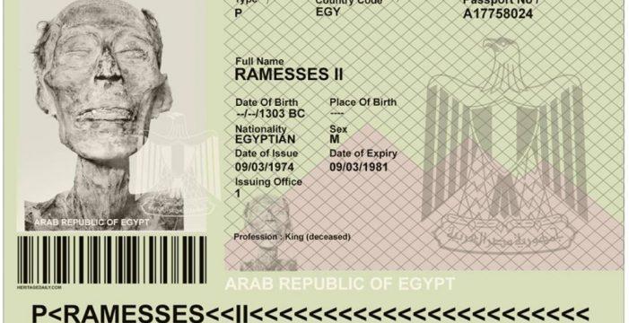 El pasaporte de la momia de Ramsés II que causa furor en las redes sociales