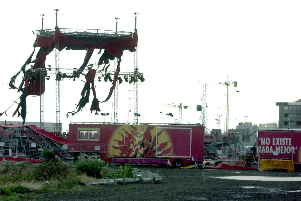 Destrozos instalacion del Gran Circo Nacional Chino_970 TORMENTA DELTA