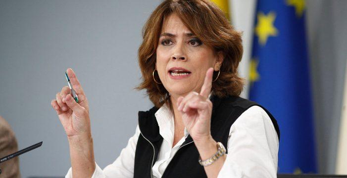 """La ministra Delgado, a Clavijo: """"Está fuera de lugar cualquier crítica a la Fiscalía"""""""