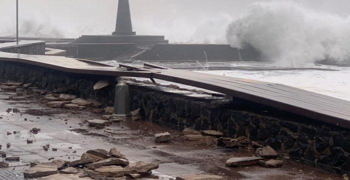 Cuantifican los daños por el temporal en la costa lagunera en más de 165.000 euros