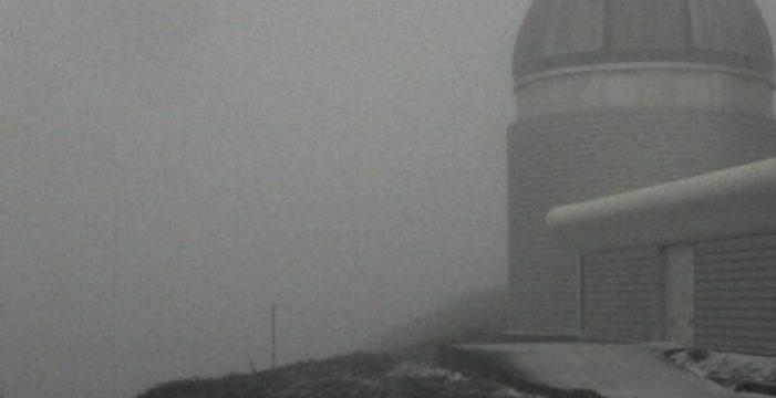 La imagen que te va a helar: registran hasta un grado bajo cero en el Roque de Los Muchachos