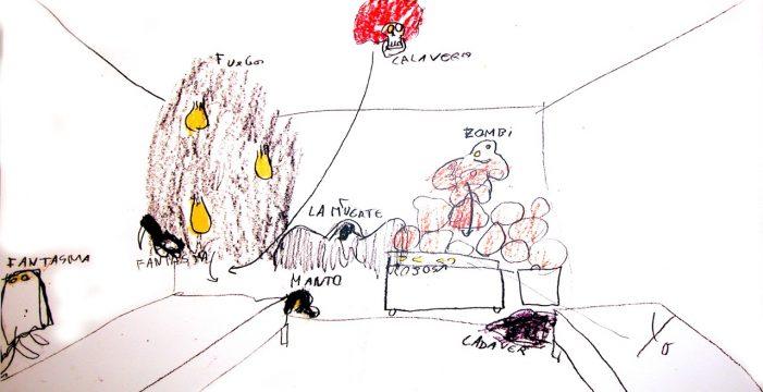 Monstruos, fantasmas, cadáveres y piojos, así dibuja su habitación un niño que ha sufrido abusos de su padre