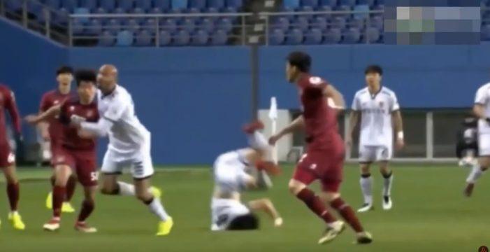 La espeluznante caída de este futbolista que pudo acabar en tragedia