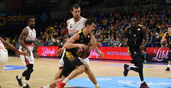 El Tecnyconta Zaragoza se impone al Iberostar Tenerife con un triple en el último segundo (86-88)