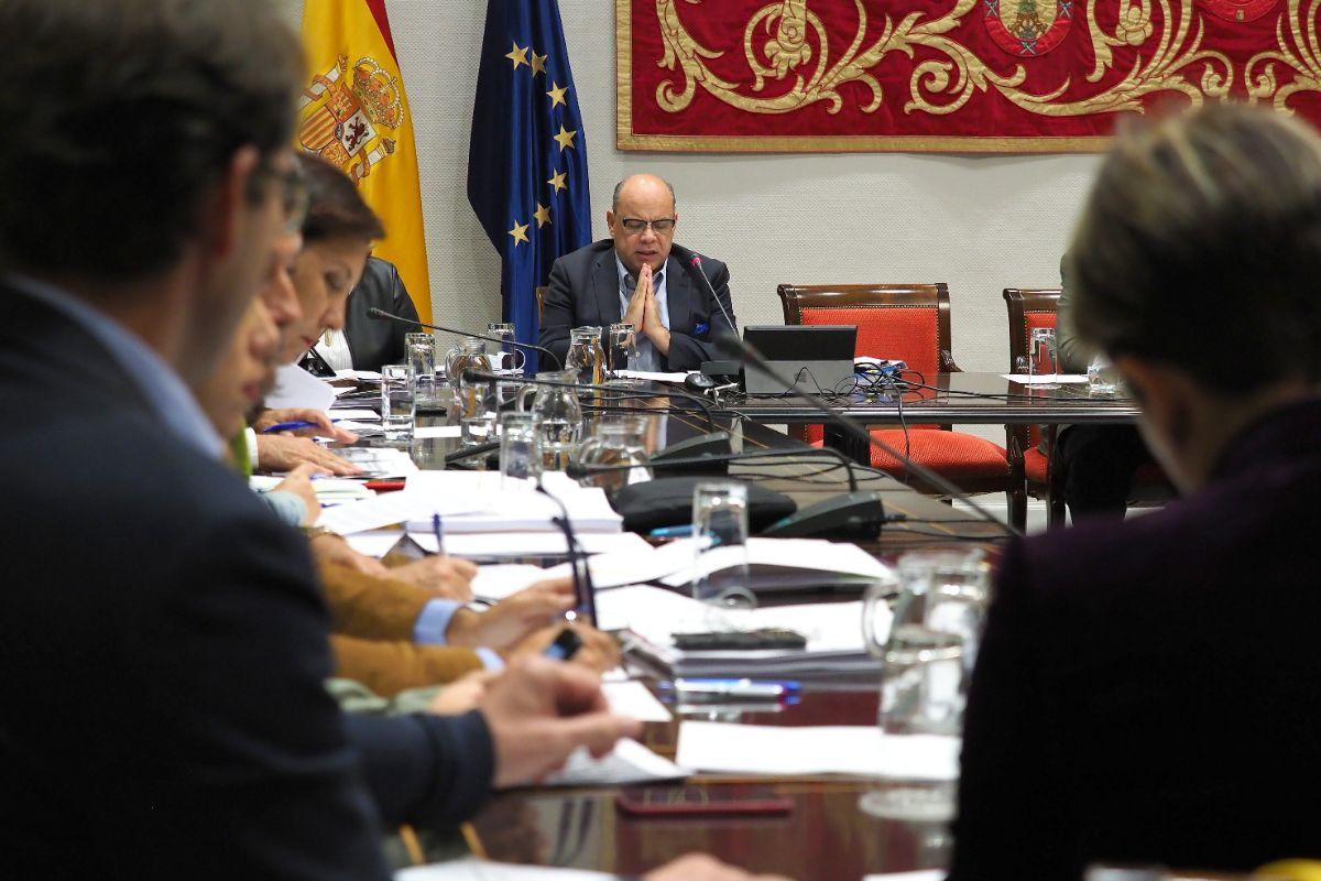 El consejero de Presidencia, Justicia e Igualdad, José Miguel Barragán, detalla el presupuesto de su departamento para 2019. Sergio Méndez