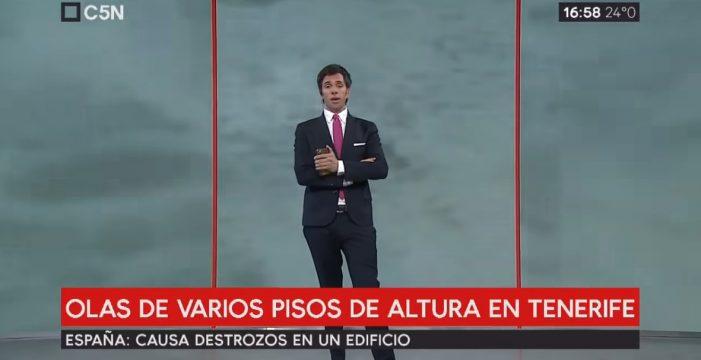 """No da pie con bola: un presentador argentino se lía y pone a la """"ciudad 'tenerifeña' de Cataluña"""" en el Mediterráneo"""