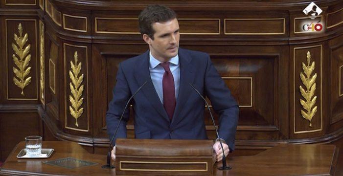 """Casado pide a Sánchez que actúe en Cataluña: """"Aterrice, esto ya no da más de sí"""""""