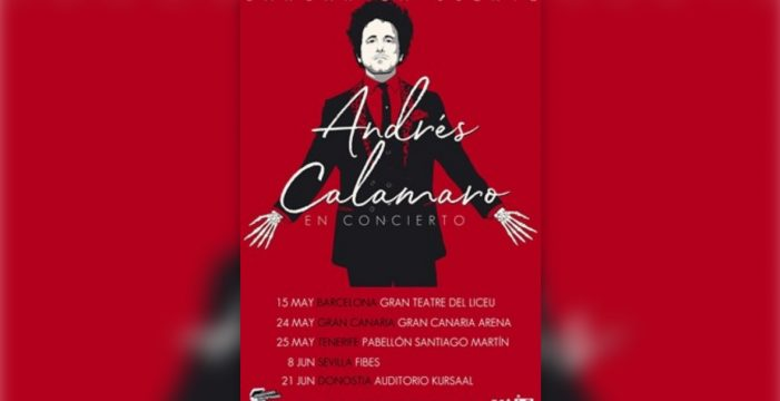 Andrés Calamaro anuncia conciertos en Canarias