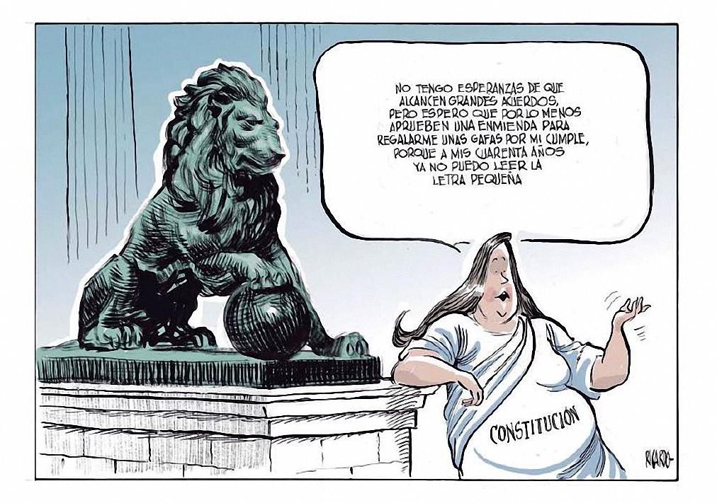 Viñeta sobre la Constitución de 1978. / RICARDO