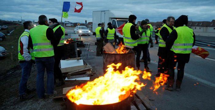 Detenido un camionero español tras disparar contra 'chalecos amarillos' en Francia