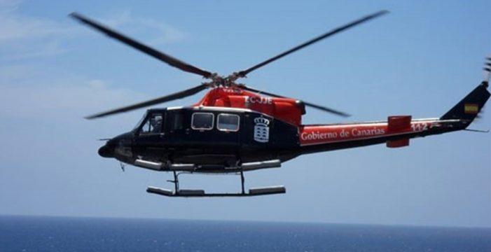 Rescatan en helicóptero a un senderista con problemas de salud en Arona