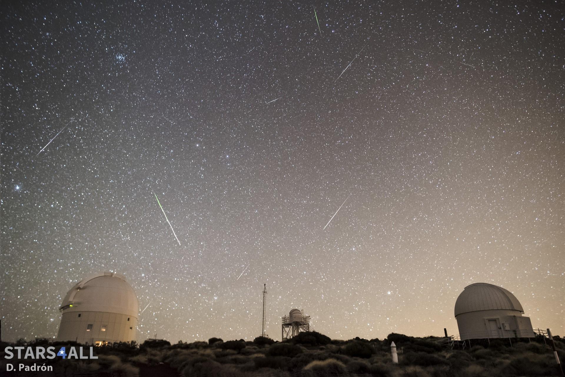 El Observatorio del Teide retransmitirá en directo la lluvia de las Cuadrántidas. / EP