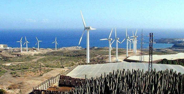 La nueva subasta eólica instalará 180 megavatios en Canarias