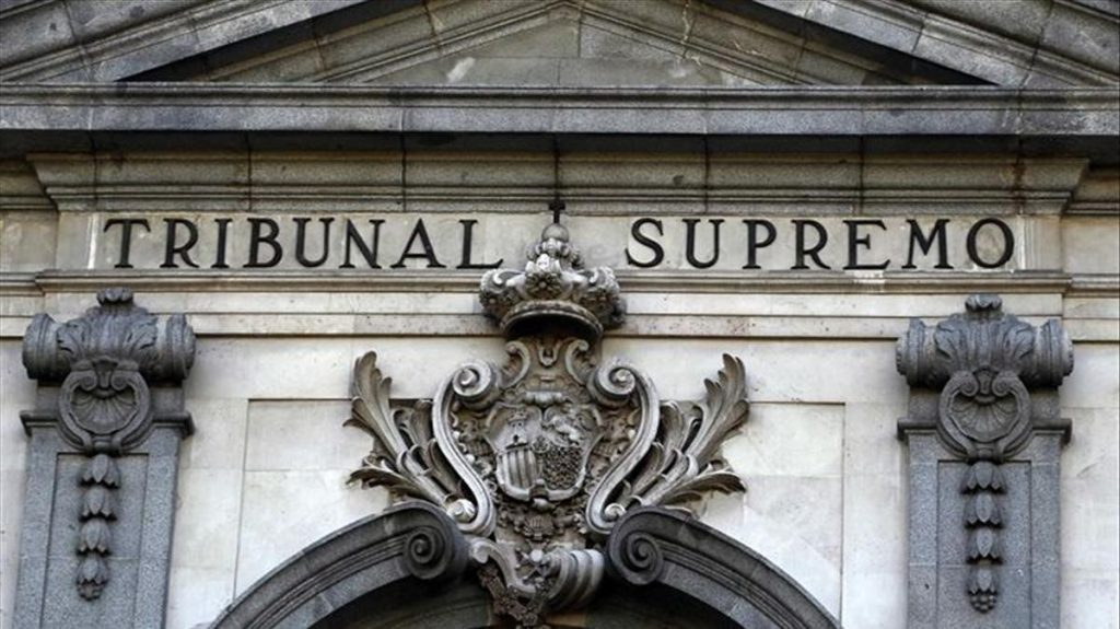 Vista parcial de la fachada del Tribunal Supremo. EP