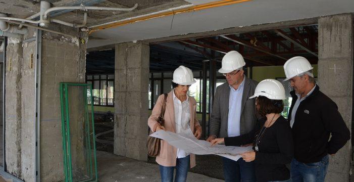 Avanzan las obras de remodelación de la primera planta de la Residencia de Pensionistas