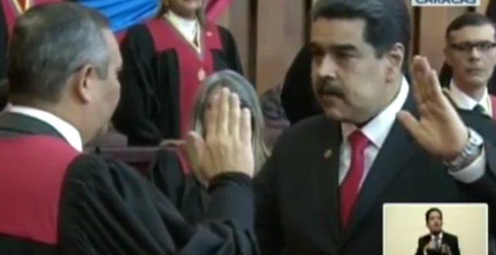 Maduro inicia su segundo mandato reivindicando su legitimidad en el cargo y ante un amplio rechazo internacional