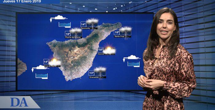 La previsión del tiempo del jueves 17 de enero en Canarias