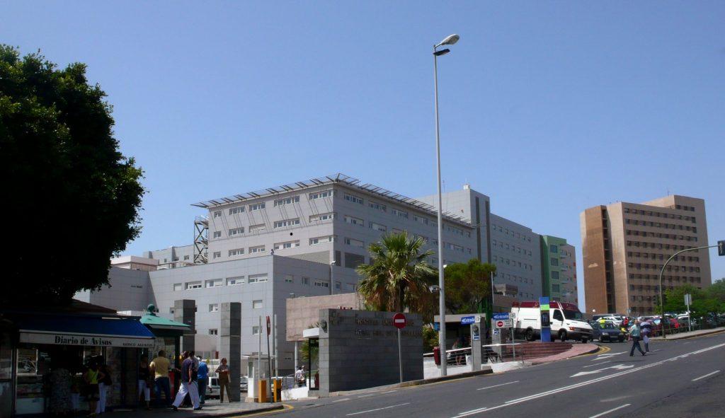 Imagen de la zona en la que se encuentra el servicio de Urgencias del Hospital Nuestra Señora de La Candelaria. DA