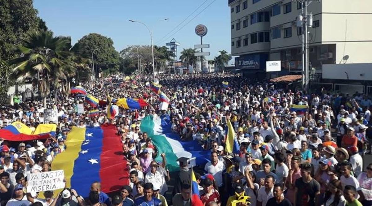 Manifestación 23 de enero Caracas