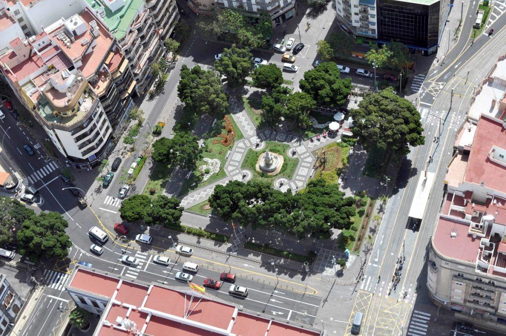 Vista aérea de la Plaza de Weyler. | DA