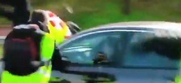 Ingresa en la UCI en estado muy grave el taxista arrollado en Madrid