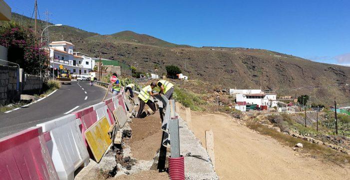 El Cabildo invierte un millón de euros en el acondicionamiento  del acceso a Igueste
