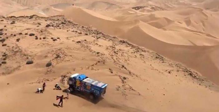 Rally Dakar: un camión atropella a un espectador en la quinta etapa
