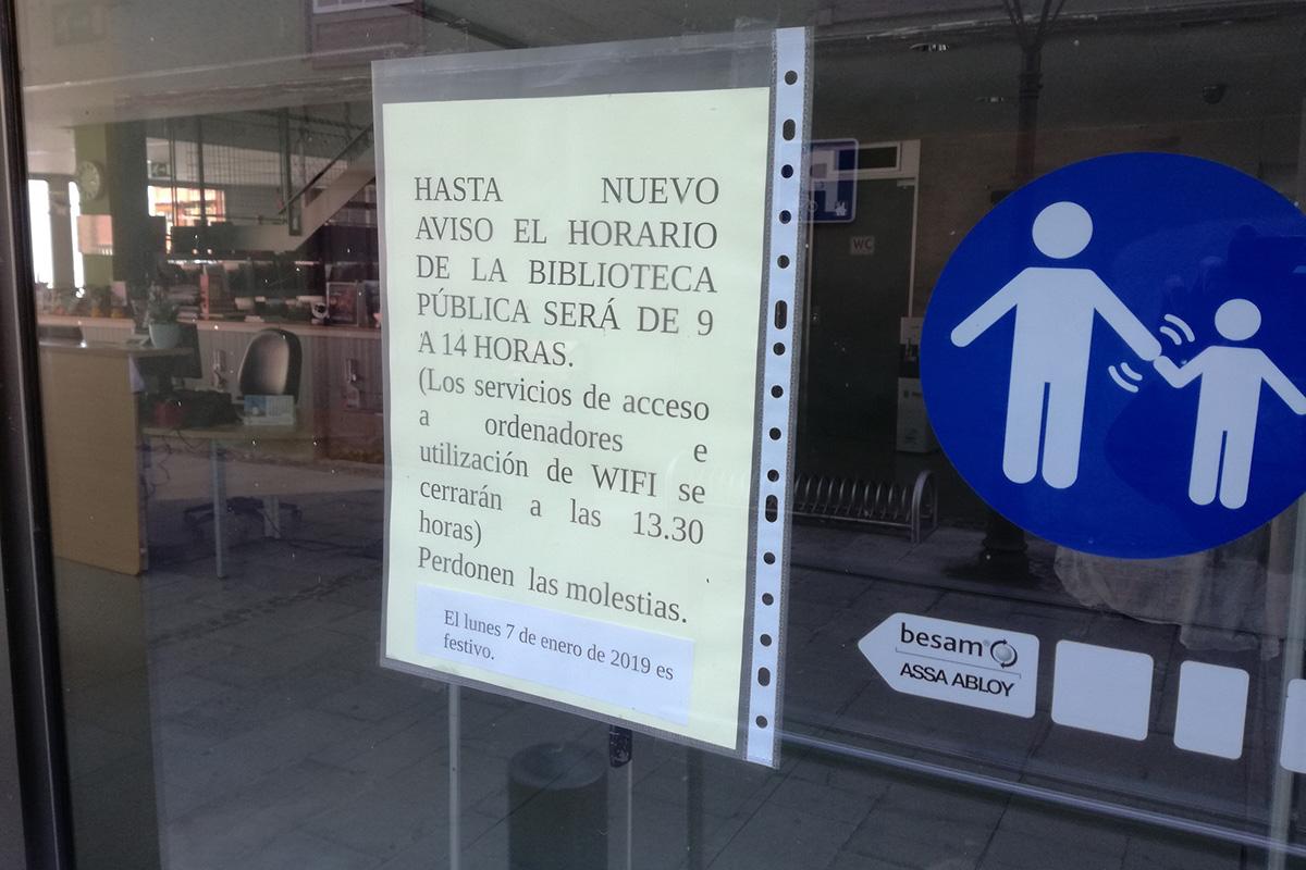 HORARIO BIBLIOTECA PUERTO DE LA CRUZ