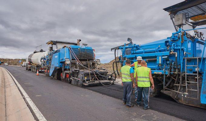 El asfalto reciclado, la solución a la falta de áridos en Tenerife