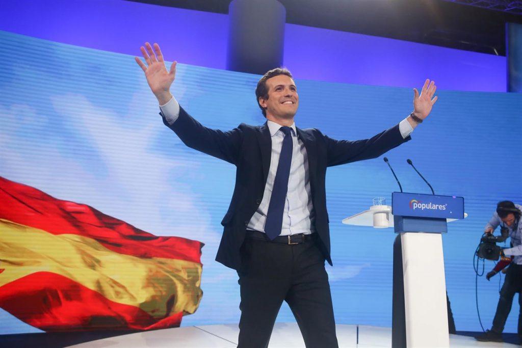 Pablo Casado en la Convención Nacional del PP. | EP