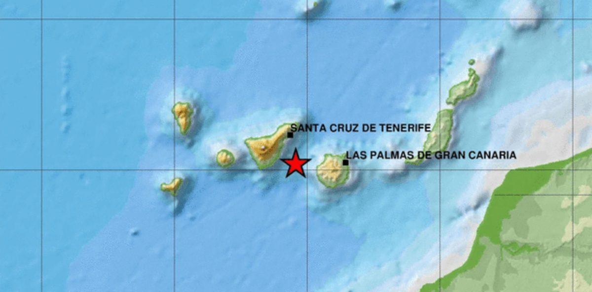 El IGN registra un terremoto de 4,4 entre Tenerife y Gran Canaria