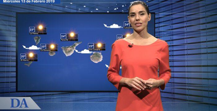 La previsión del tiempo en Canarias para el miércoles, 13 de febrero