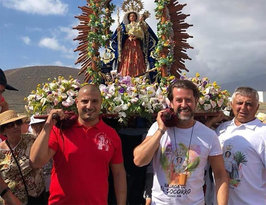 Carlos Alonso en la Bajada del Socorro