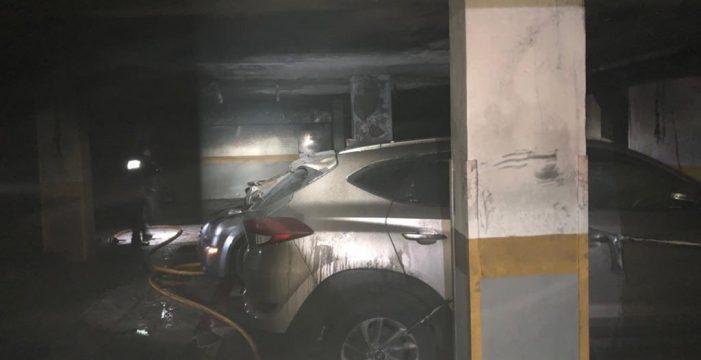 El incendio en un garaje en La Laguna obliga a desalojar a los vecinos de dos edificios