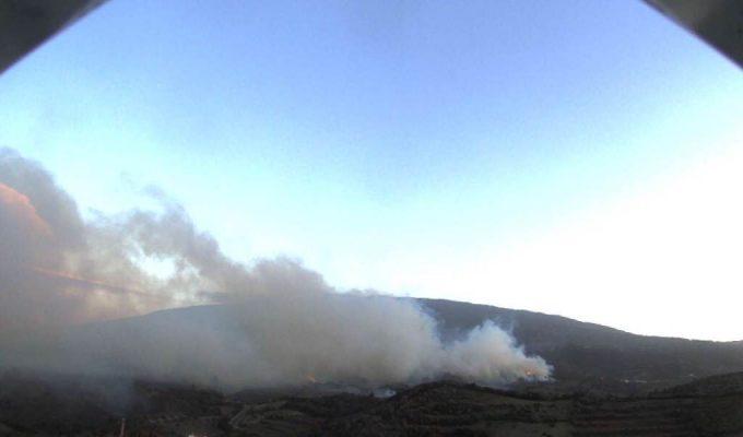 Una 'webcam' del Cabildo capta el comienzo del incendio de Garafía