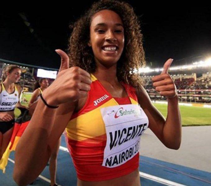María Vicente, récord de España sub-20 y mejor marca nacional en los 60 metros vallas de un pentatlón