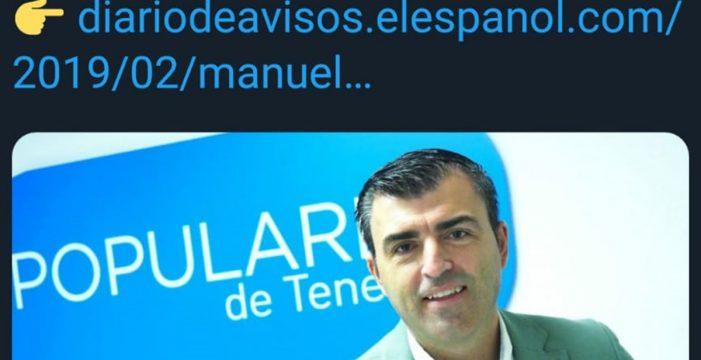 La entrevista de Manuel Domínguez en el DIARIO, de lo más retuiteado por el PSOE