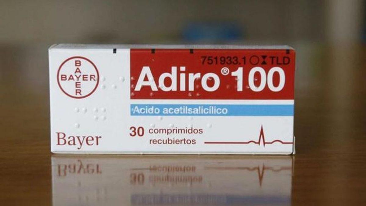 Adiro 100 mg comprimidos gastrorresistentes de Bayer. | DA