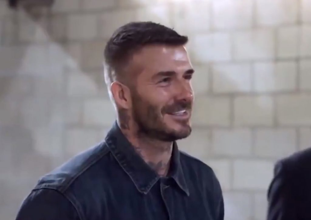 Broma a David Beckham en Los Ángeles  DA