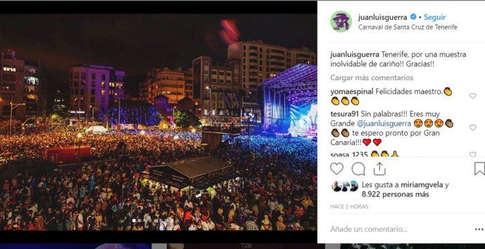 48 horas después, Juan Luis Guerra sigue agradecido a Tenerife