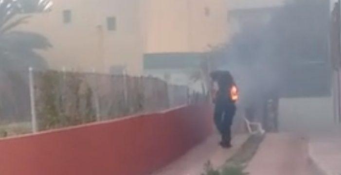 Los gritos desesperados al ver a un hombre ardiendo en una casa abandonada de Gran Canaria