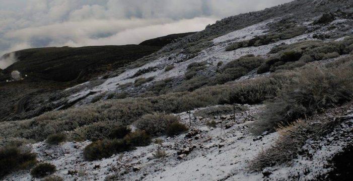 El Roque de los Muchachos también se viste de blanco