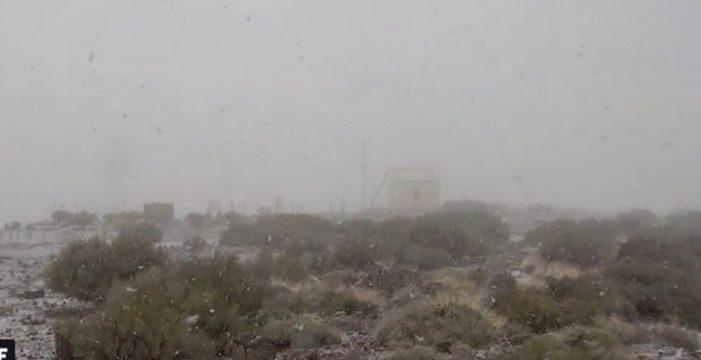 La nieve ya hace acto de presencia en el Teide