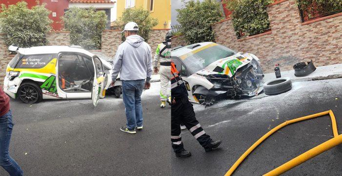 Impactante accidente en el 35º Rally Orvecame Norte