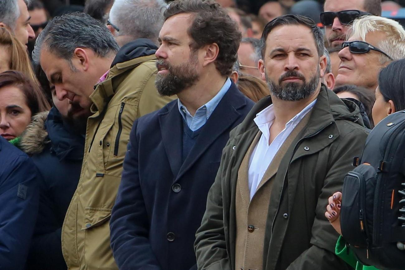 Santiago Abascal y otros líderes de VOX / EP