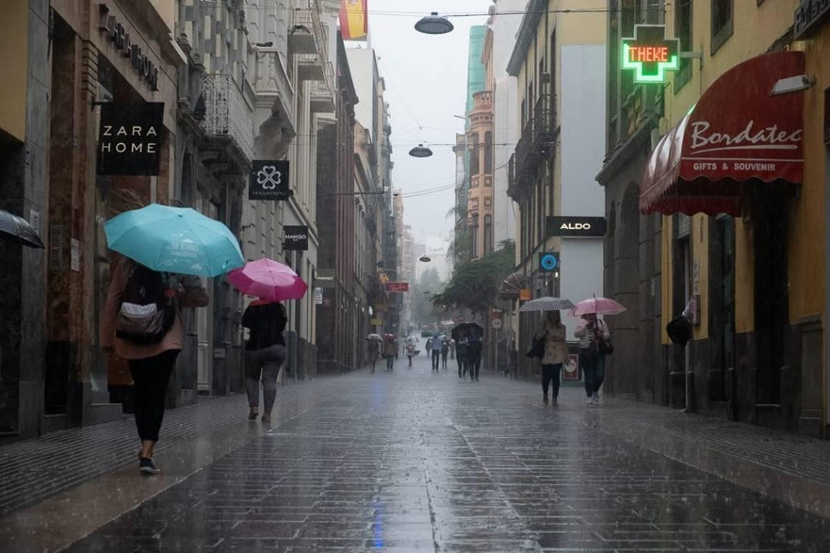 Lluvias en Canarias. DA