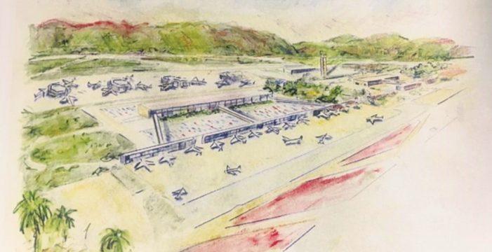 El aeropuerto ecológico inédito que César Manrique ideó para el sur de Tenerife